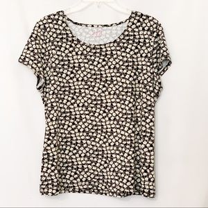 212 Collection Short Sleeve Stretch Top